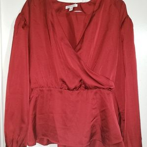Rustic Red - •Prologue•   Front-Wrap Blouse
